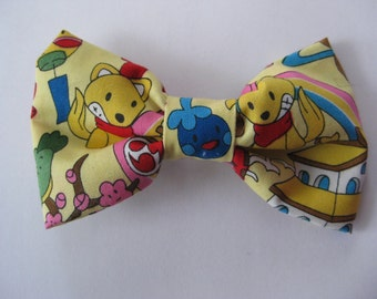 Yellow Cute Japanese Character Hair Bow with Barrette