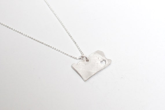 i heart Pennsylvania State Necklace Silver Pennsylvania Necklace Personalized State Pendant State Love Necklace with Heart Jewelry Hometown