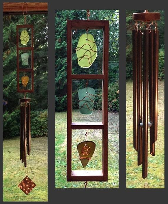 Windchimes, Sea Glass, Stained Glass, Beach Glass, Copper, Windchime, Wind Chimes, Wind Chime