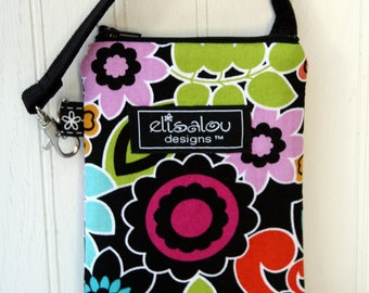 Padded Gadget iPhone, Cell Phone, Blackberry, iPod, iTouch, Camera Pouch- Jewel Floral