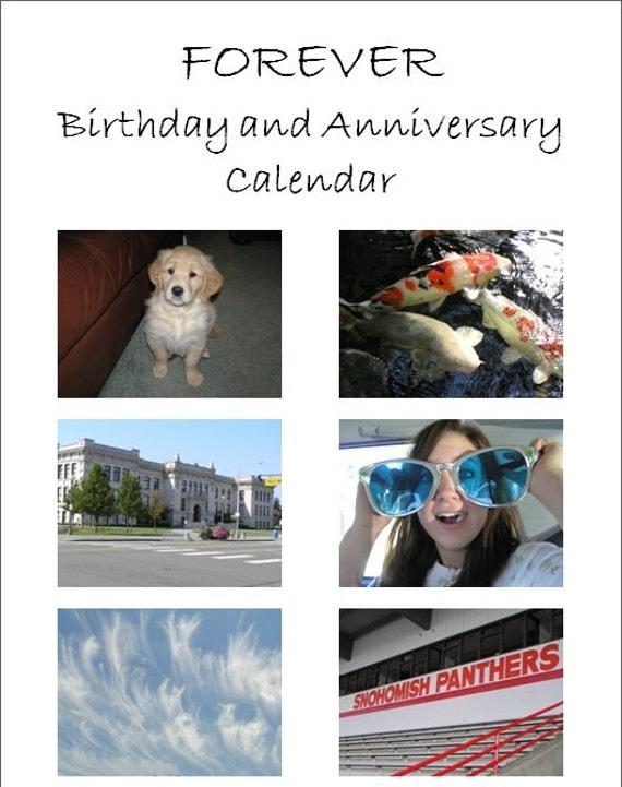 Custom Forever Calendar