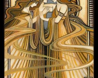 Three Graces Art Deco Greek Goddess 8x10 Print