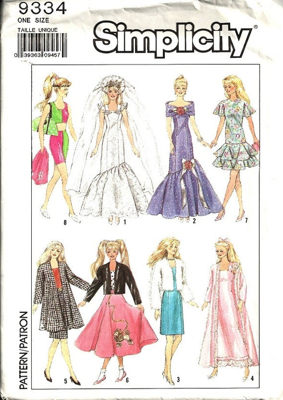 barbie doll clothes patterns - photo #47