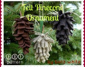 Felt Pinecone Ornament PDF PATTERN