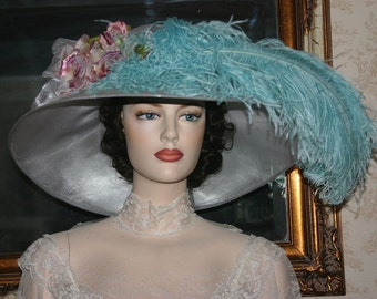 Kentucky Derby Hat Edwardian Tea Hat Ascot Hat - Run for the Roses