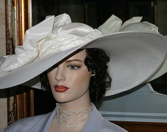 Edwardian Hat Ascot Hat Kentucky Derby Hat Wide Brim Tea Hat Titanic Hat Somewhere in Time Hat Downton Abbey Hat Wedding Hat  - Titanic