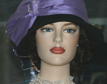 Flapper Hat Gatsby Hat Downton Abbey Tea Hat Church Hat Kentucky Derby Hat Roaring Twenties - Josephine