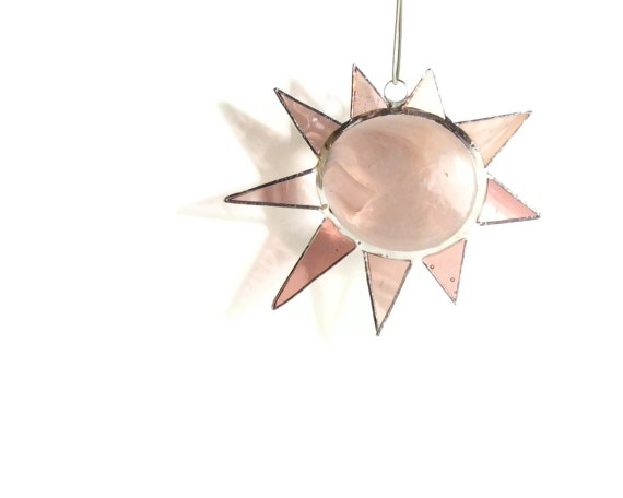 Light Purple Star - Stained Glass Suncatcher