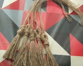 One (1) Jute Tassel from Recycled Coffee Bean Sacks (for decorating or gift-wrapping)