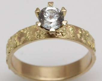 14k gold,  Diamond engagement ring