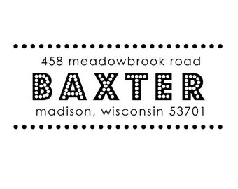 bright lights rubber address stamp