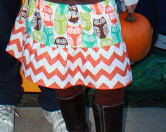 Boutique toddler Girls  Skirts . .Whoo Whoo Owl  triple  flouncy skirt 2t-12 youth toddler skirts