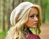 Cream Crochet Hat Cream Womens Hat Cream Slouchy Beanie - Weekender Cream Slouchy Hat Cream Hat Cream Beanie Womens Accessories Winter Hat