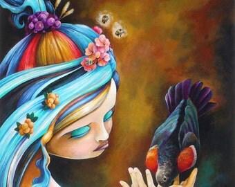 Her Dedication To Purpose original art painting by Bryan Collins