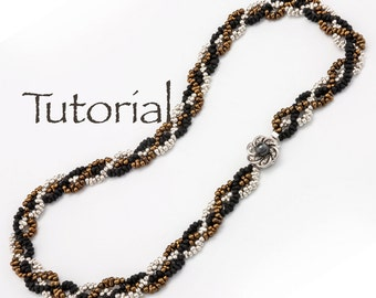 Beaded Rope Necklace Tutorial Plaited Peanuts Digital Download