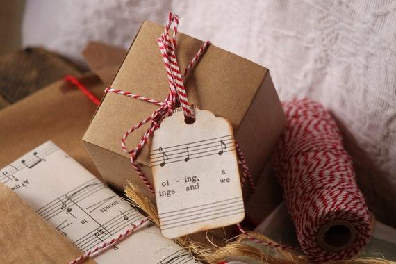 10 Kraft Box - 3x3x3 - Favor Box -- Gift Box -- Top Tuck
