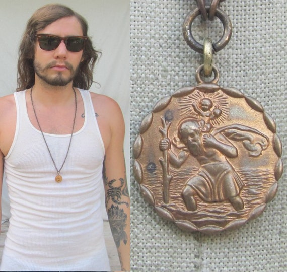 Vintage Catholic Metal Medal Patron Saint Of By Madmadcrafter