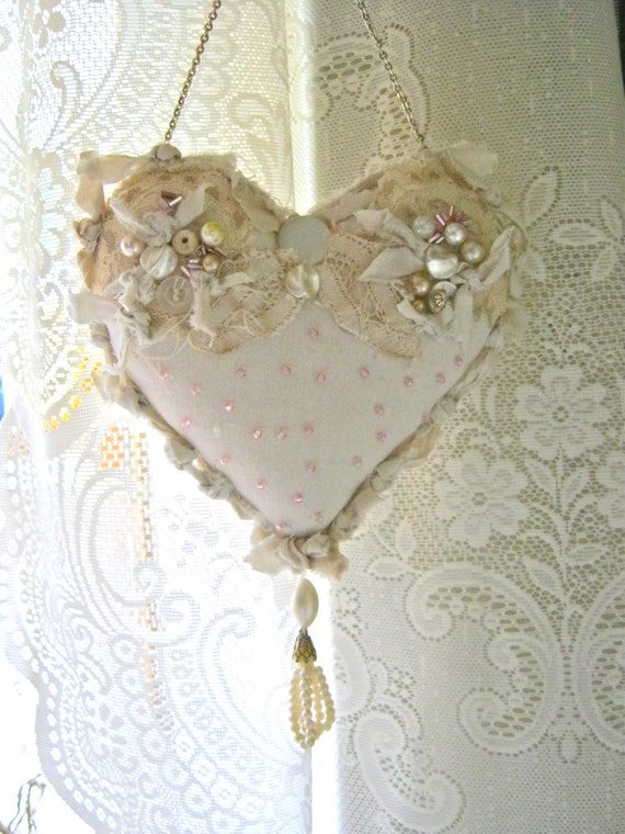 Shabby Chic Heart Pillows : Unavailable Listing on Etsy