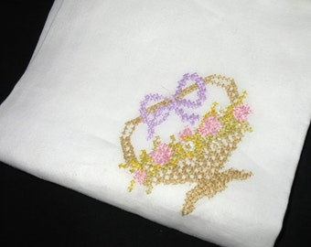 Vintage 40's Cross Stitch Table Cover