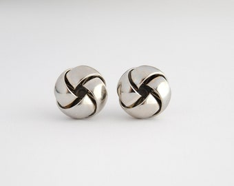 SALE - Classic Silver Knot Earrings. Everyday Earrings. Silver Studs. Gifts for Her. Small Silver Earrings. FREE Shipping in US
