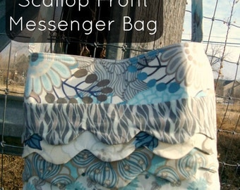 Messenger Bag pattern scallop front sling style Download Pattern Now