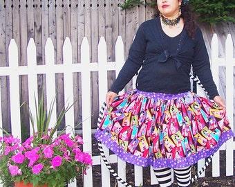 Purple Lolita Skirt Geishas by Erikas Chiquis