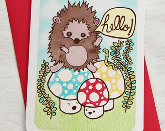 Hello Hedgehog - Notecard