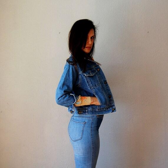 vintage GUESS jean jacket / 1980s denim GEORGES MARCIANO jacket