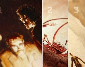 The Time Machine Prints, Complete Set of 3