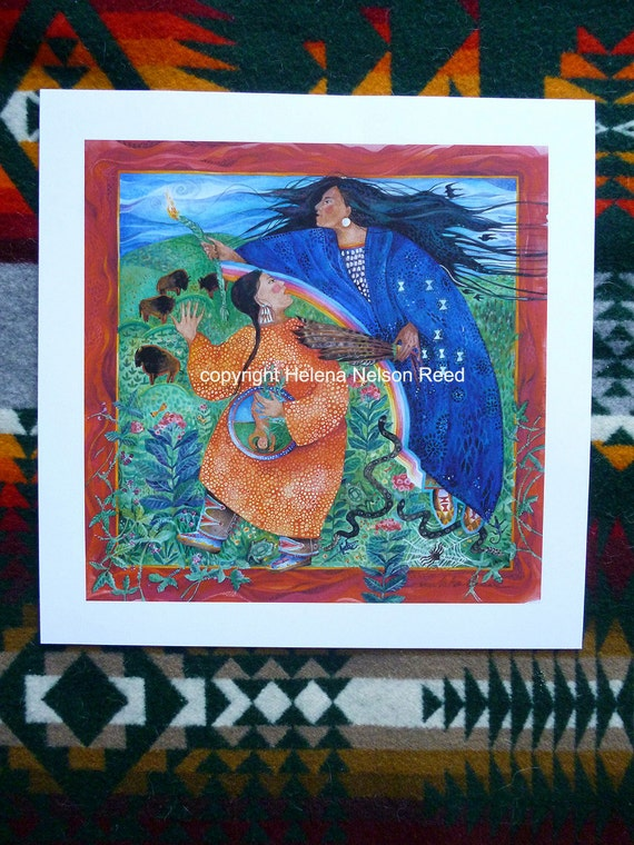 Motherhood Native American mythos - inspired, pregnant