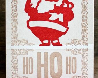 Ho Ho Ho letterpress christmas cards set of 6