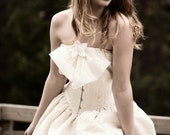 Rustic Little Wedding Dress- Custom made- Just for you
