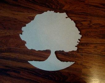 Tree of Life Mosaic Base/Unfinished Mdf Wood Craft Shape