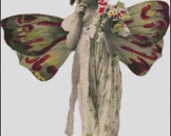 VINTAGE GIRL PHOTO 6 cross stitch pattern No.36