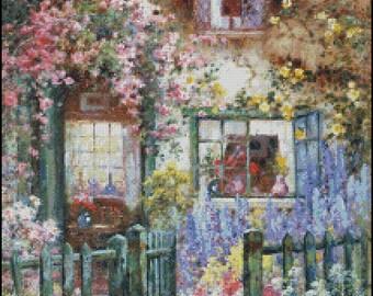 A WAYSIDE HOUSE cross stitch pattern No.679