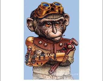 Hester Farklebot 8 x 10 Steampunk Monkey Nation Portrait