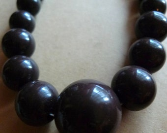 chocolate vintage beads choker glam hollywood pin up cutie 1960s