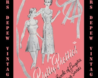 """Vintage Sewing Booklet For Lingerie and Lace Ornamentation """"Pretty Pretties"""" PDF E-book -INSTANT DOWNLOAD-"""