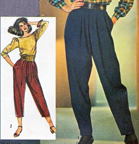1980s Womens 1980s Womens Pants Pattern