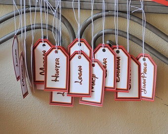 INSTANT DOWNLOAD (Digital) Hanging Name Tags Inspired by Mickey Mouse in Black, Red, White, and Yellow