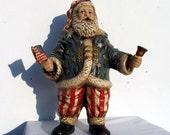Old Glory Handpainted Antiqued Ceramic American Santa Stars & Stripes Motif American Flag on Etsy
