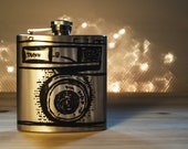 Hand Drawn Taron Camera Flask