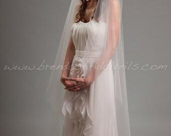 Juliet Cap Veil, Lace Cap with Detachable Veil, 2 Piece Bridal Veil Set, Lace Wedding Veil - Angelena