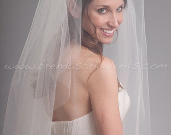 Wedding Veil with Blusher,Bridal Veil Double Layer - Kimberly Veil