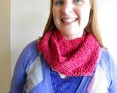 SALE! Chunky Infinity Cowl - Raspberry pink infinity scarf neckwarmer