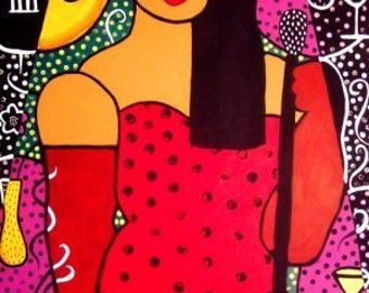 La Sonora/The Songstress- original 30x40 painting