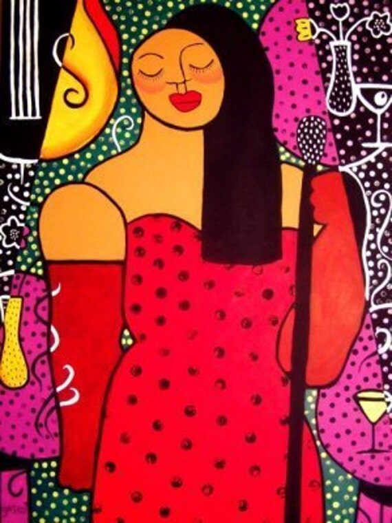 La Sonora/The Songstress- original 30x40 painting