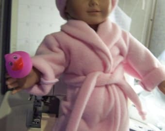 fleece robe with button turbin and rubber duck