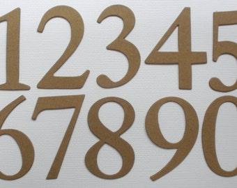 """2"""" - ELEGANT NUMBERS --  Bare CHiPBOARD Die Cuts - 2 of each Number"""