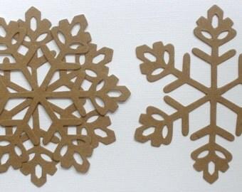 """4 ViNTAGE SNOWFLAKE - Winter Christmas Bare Chipboard Die Cuts ---- 4 1/4"""""""